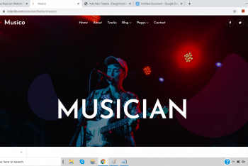 Download Musico –  Musician Website HTML Template
