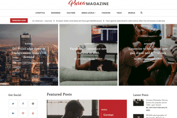 Download Purea – Newspaper Style WordPress Theme