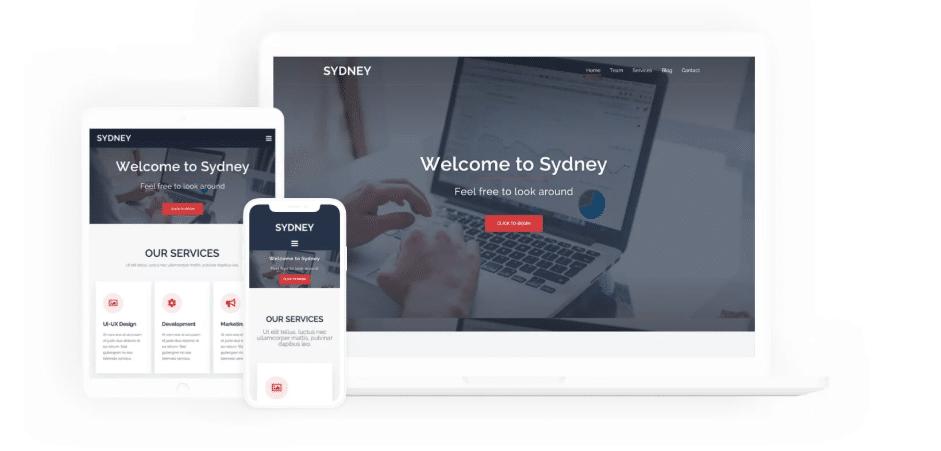 Sydney - business/agency WordPress theme