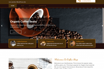 Download Café Business WordPress Theme