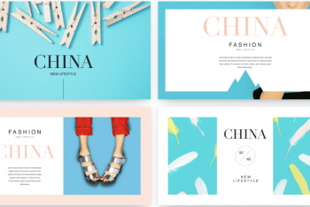 China New Lifestyle Fashion Keynote Template