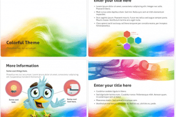 Colorful Keynote Template for Free