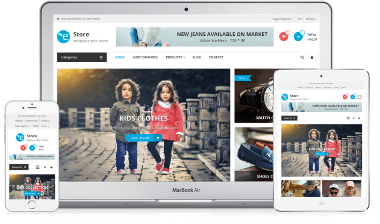 eStore - eCommerce/WooCommerce WordPress theme