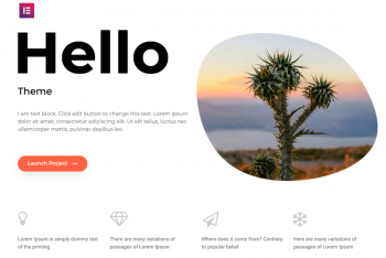 Hello Elementor – A Free WordPress Theme
