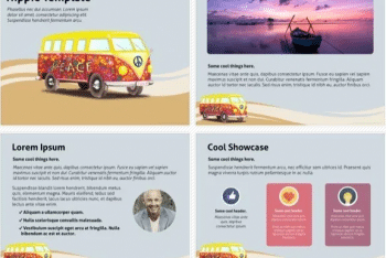 Hippie Keynote Template for Free