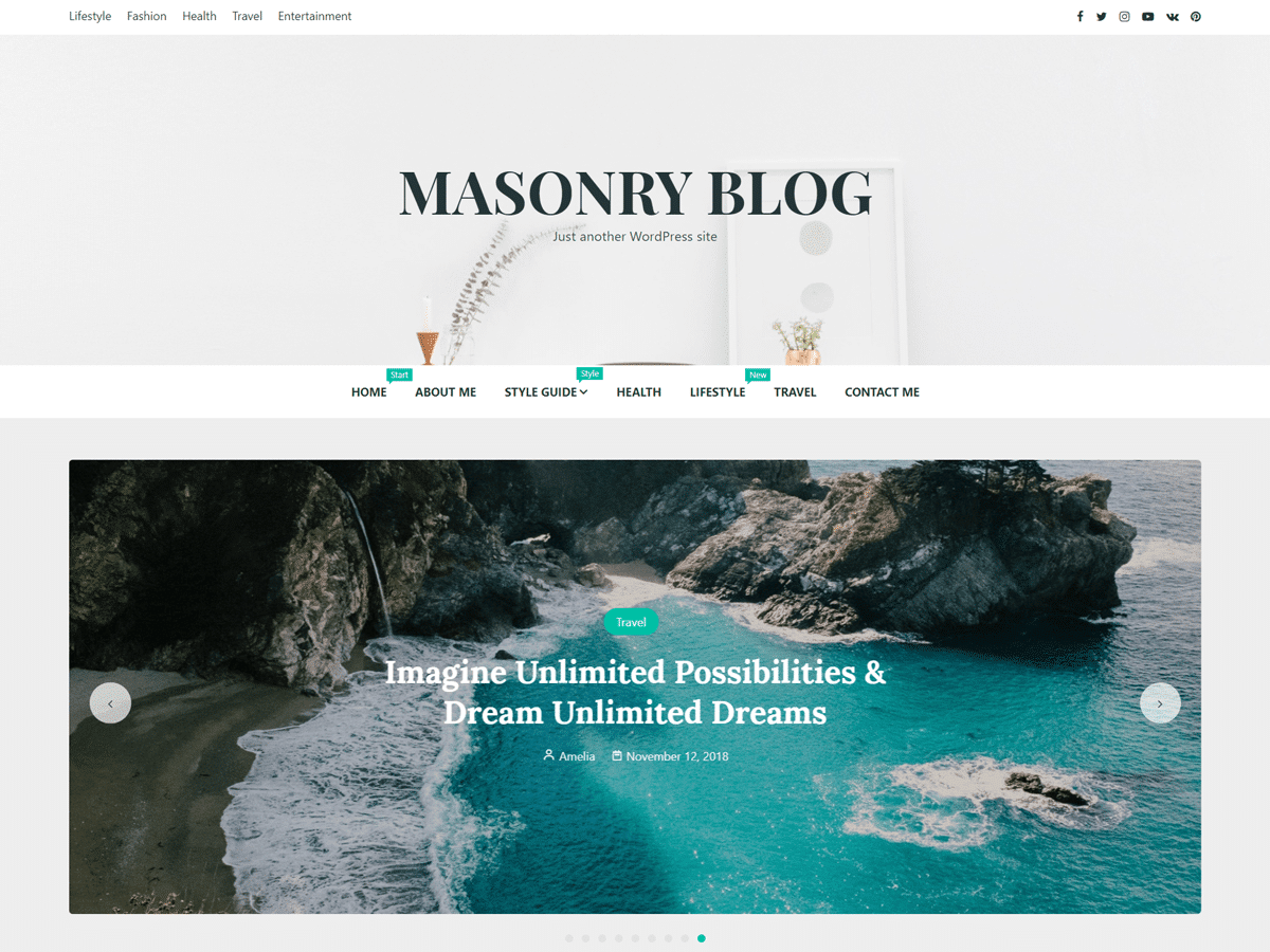 Masonry Blog Theme