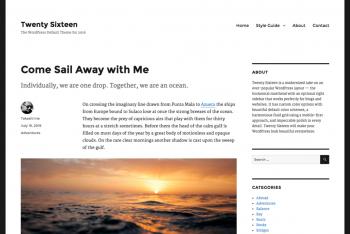Twenty Sixteen WordPress Theme for Free