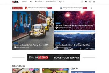 Ultra Lite – An Advanced WordPress Theme for Free