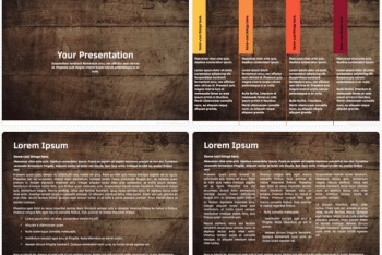 Wooden Texture Keynote Presentation Template for Free
