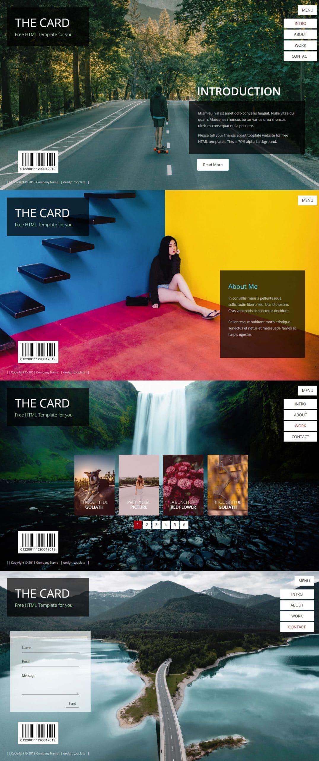The Card Portfolio - HTML template for portfolio websites