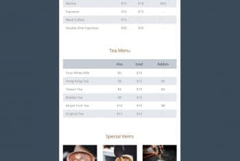 Chilling Cafe – One Page Website HTML Template