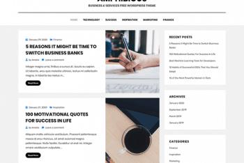 Amphibious – Personal Blog WordPress Theme
