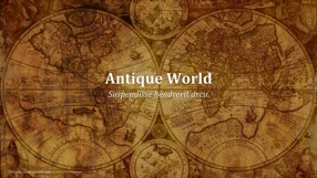 Antique World Keynote Template