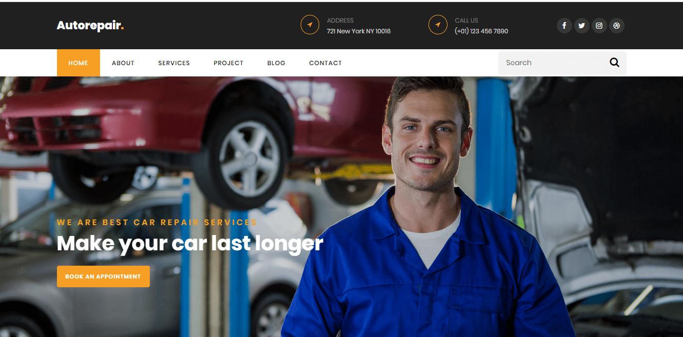 AutoRepair - template for repairing business