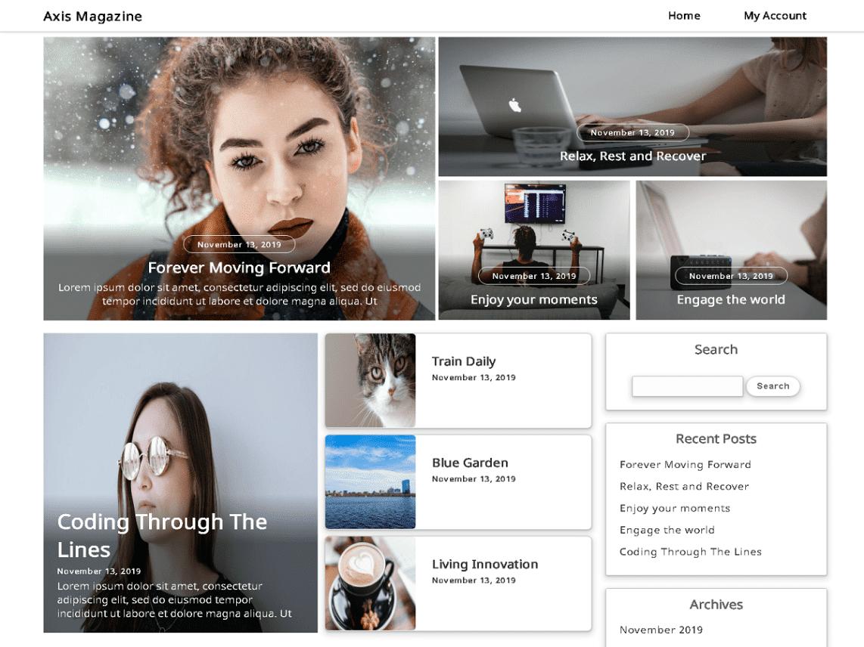 Axis Magazine – WordPress Theme