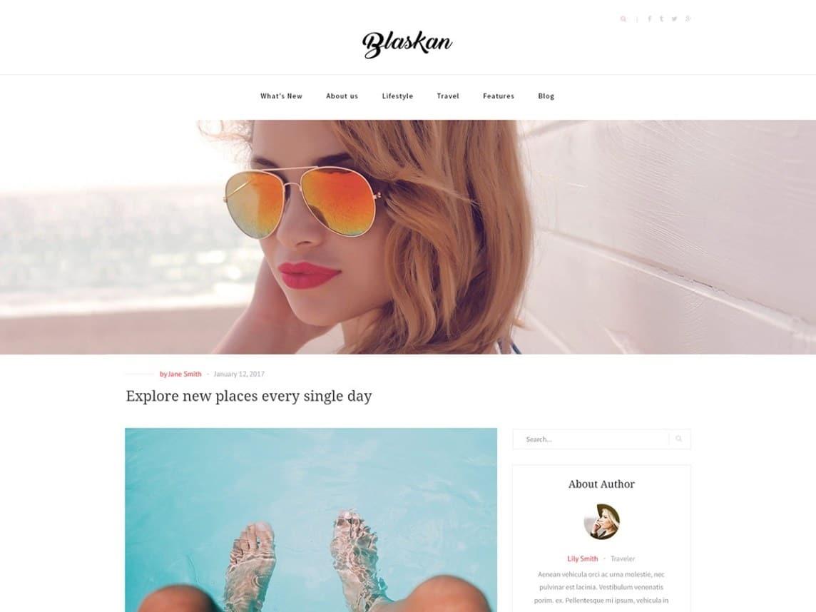 Blaskan - WordPress theme for blog websites