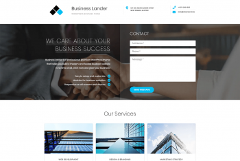 Download Business Lander – Agency Website WordPress Theme