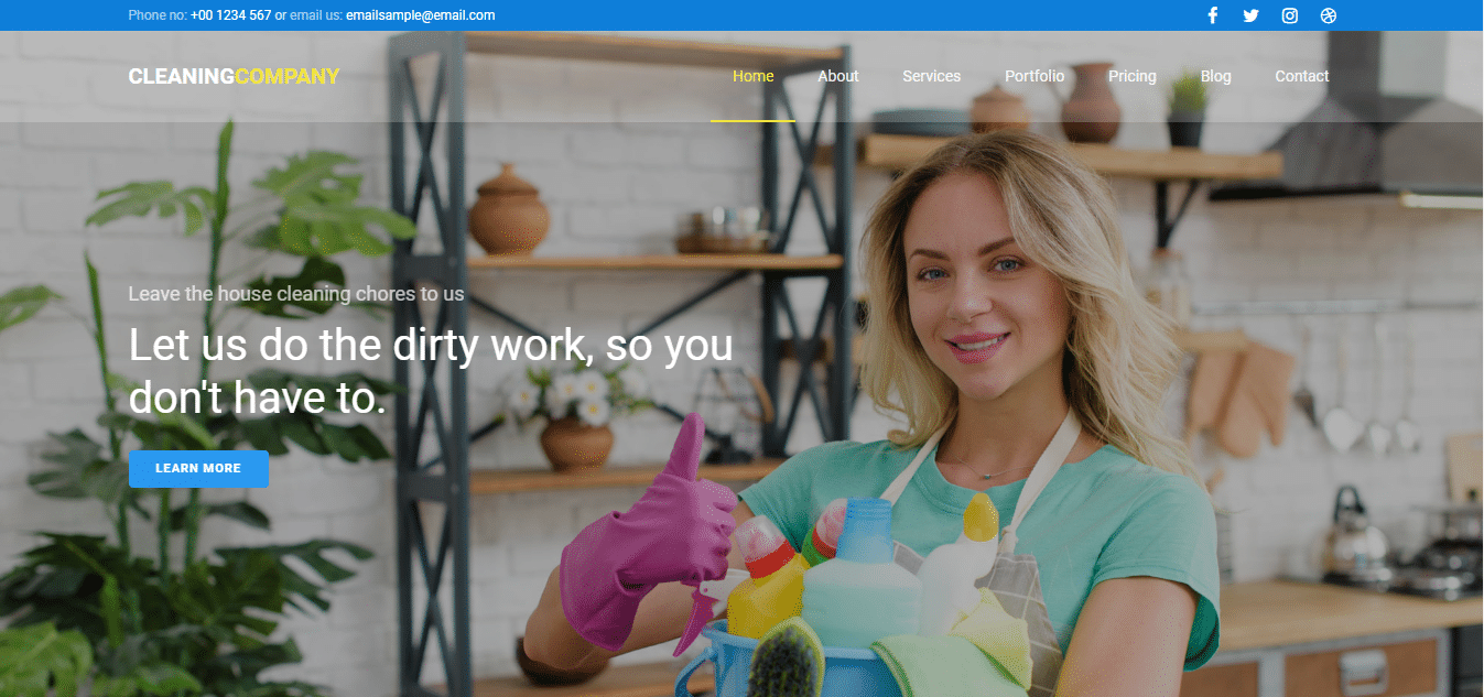 Cleaning Company - HTML template for cleaning business websites