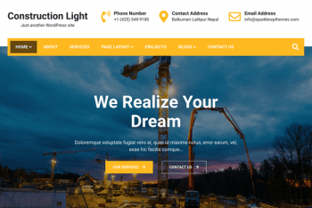 Construction Light – WordPress Theme for Construction Websites