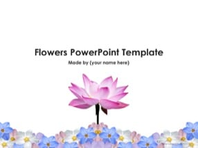 Free Flowers Keynote Template Download