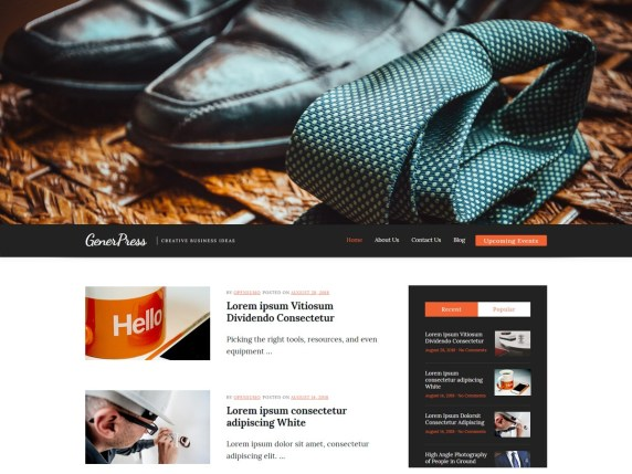 GenerPress multipurpose WordPress theme