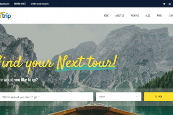 Download GoTrip- Tour & Travel Website Template For Your Next Project
