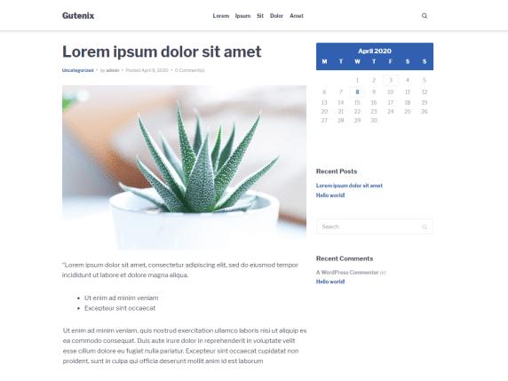 Gutenix - multipurpose WordPress theme