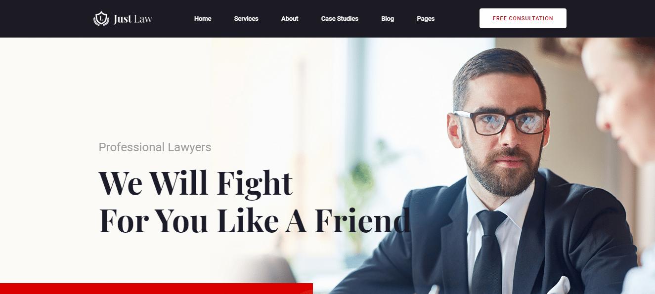 JustLaw - law agency website HTML template