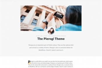 Pierogi – Blog WordPress Theme Download