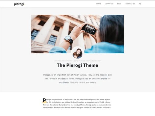 Pierogi - blog WordPress theme