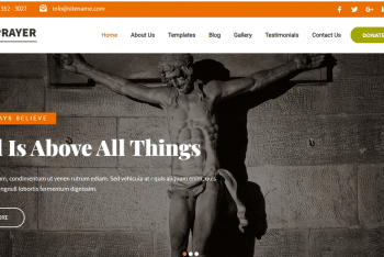 Prayer –  WordPress Theme  for Charity, NGO, and Church Websites