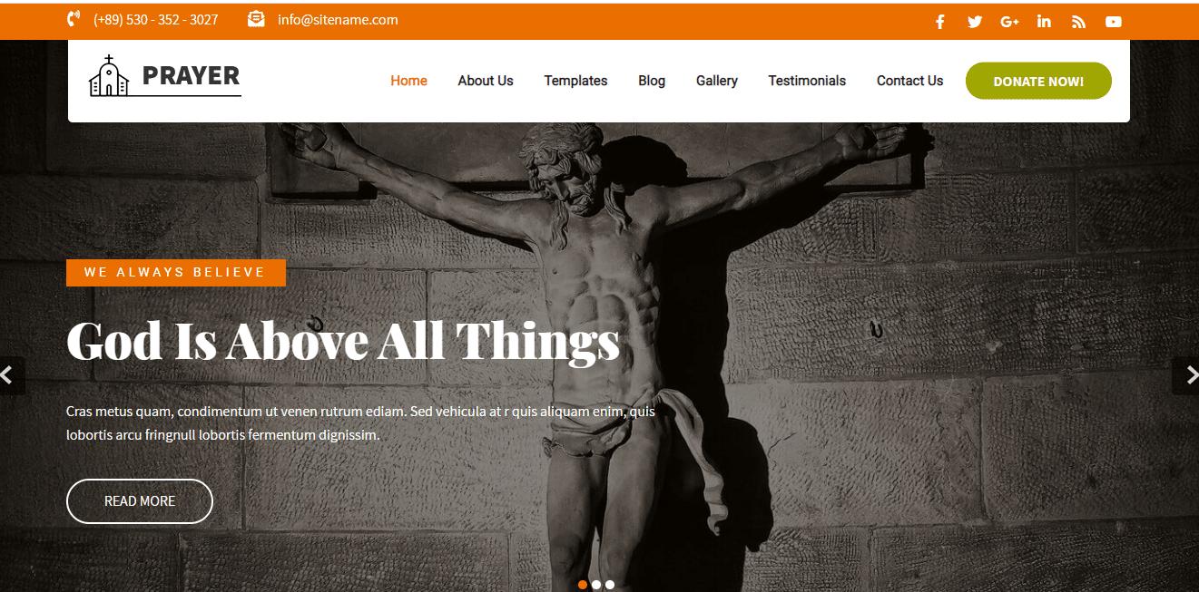 Prayer - WordPress Theme