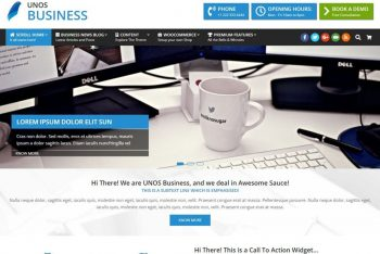 Download Unos Business WordPress Theme for Your Next Project