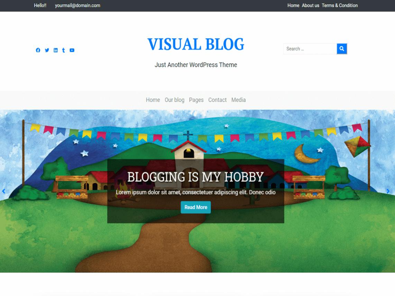 Visual Blog - WordPress theme for visual content