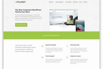 Affluent – Responsive WordPress Theme