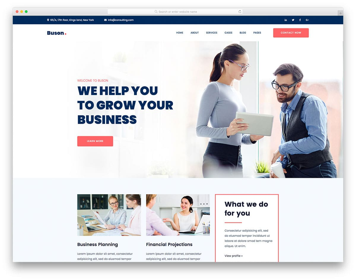 Buson - Consulting Website HTML Template