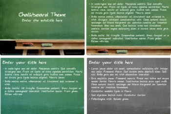 Chalkboard Keynote Template for Free