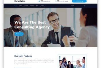 Consulotion – Consultation Business Website HTML Template