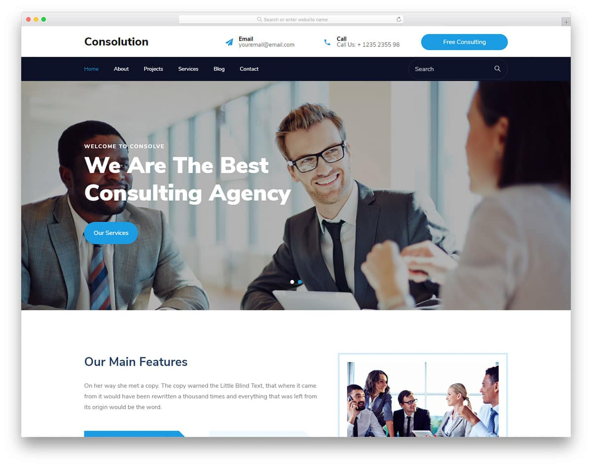 Consulotion - Consultation business website HTML template