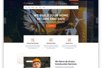Download  Constructo – Construction website HTML Template for Free