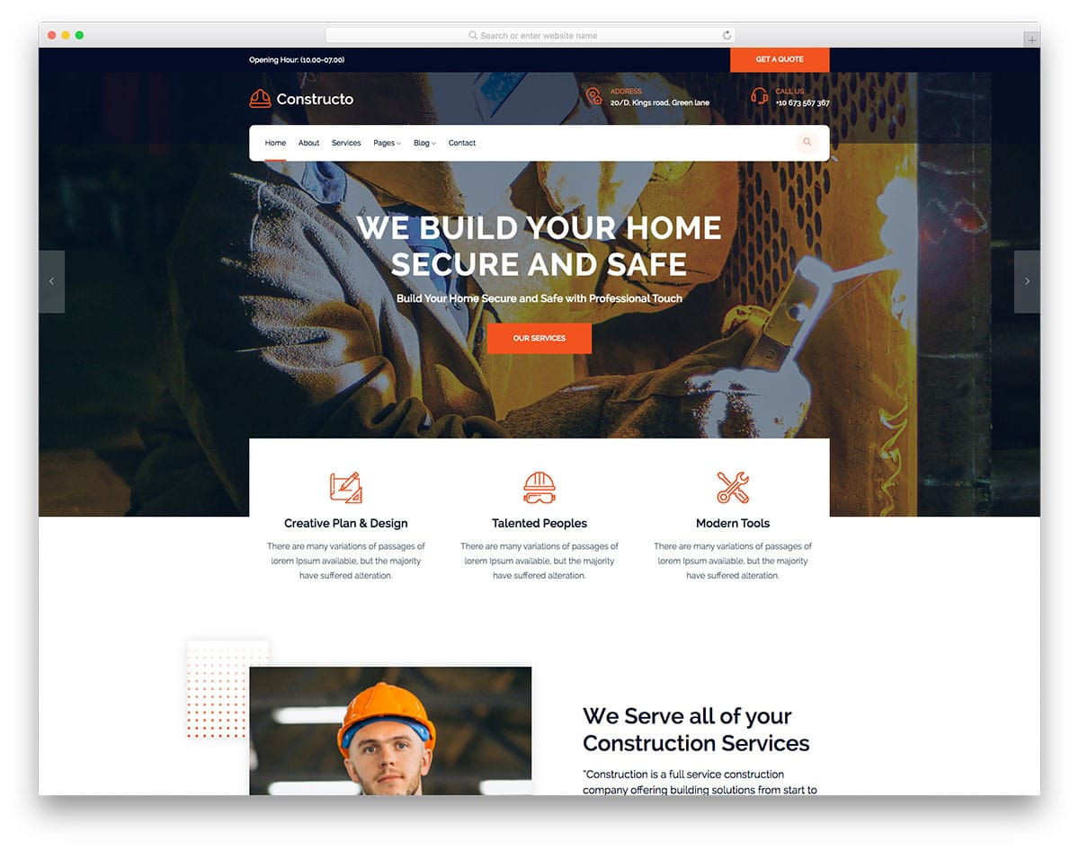 Constructo - Construction website HTML template