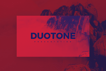 Duotone – A Free Keynote Presentation Template