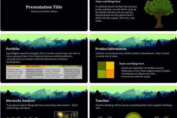Forest Keynote Template for Free
