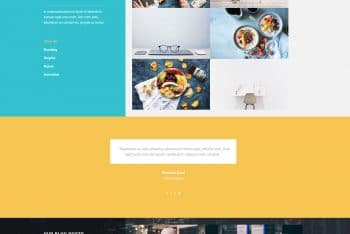 Tinker HTML Template For One Page Websites