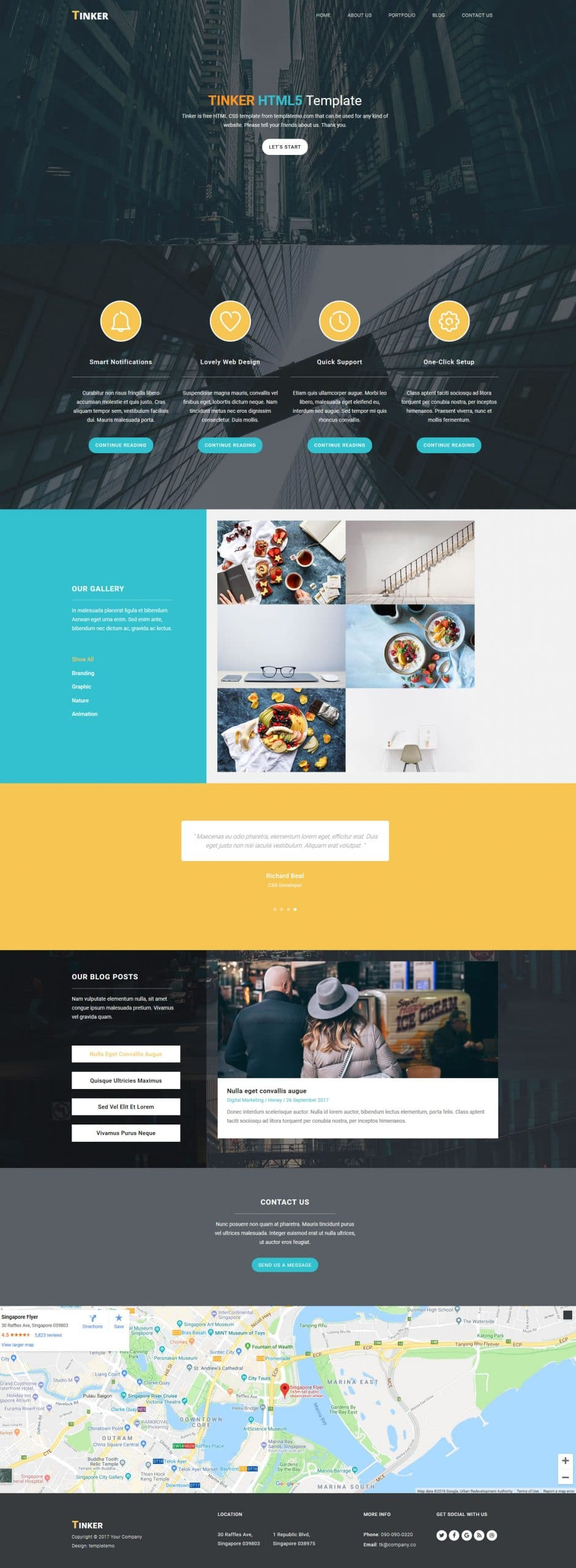 Tinker HTML Template