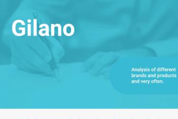 Gilano – A Free Keynote Presentation Template