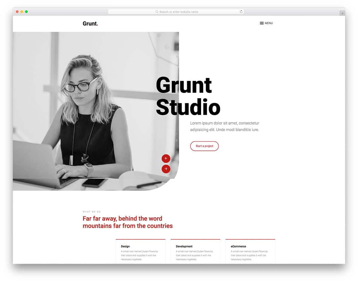 Grunt - Creative Agency HTML Template