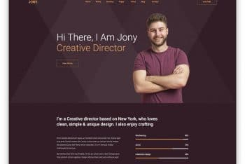 Download Jony – Persoanal Website HTML Template for Free