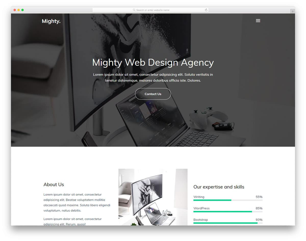 Mighty - Creative Agency Website HTML Template