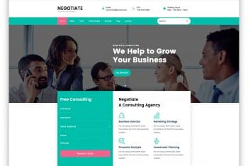 Negotiate – Consulting Website HTML Template Free Download